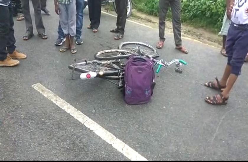 सड़क दुर्घटना में छात्रा की मौत