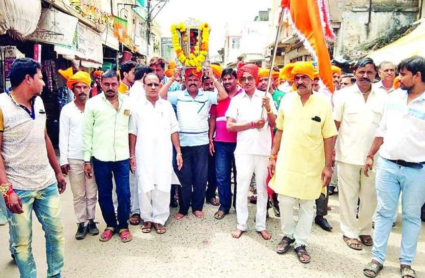 आलीराजपुर से श्री चारभुजा पैदल यात्रा रवाना