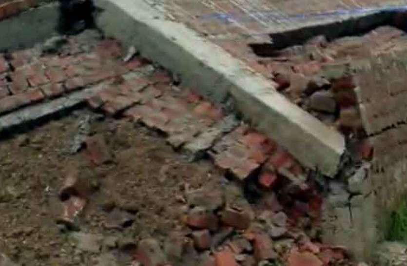 राजस्थान में यहां कहर बन कर बरस रही बारिश, मकान की दीवार गिरने से पांच जख्मी