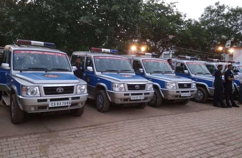 सिंगल इमरजेंसी नंबर 'डायल-112' का शुभारंभ दुर्ग जिले में किया,देखिये तस्वीरें