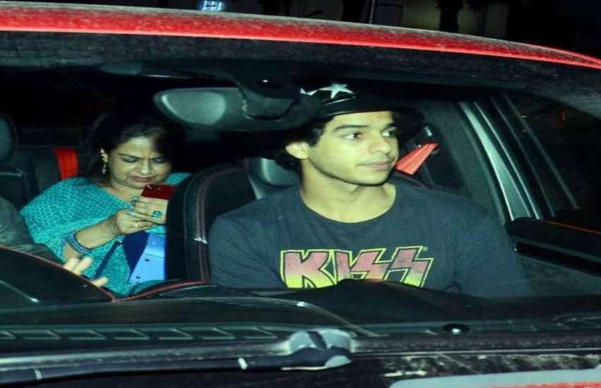 ishaan khattar and neelima azeem visited hospital