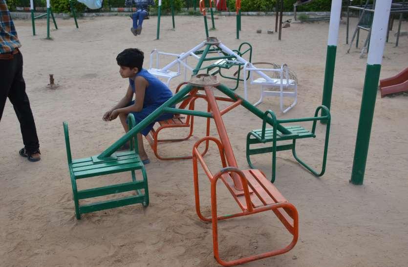 नागौर नगर परिषद की लापरवाही से उद्यान बदहाल