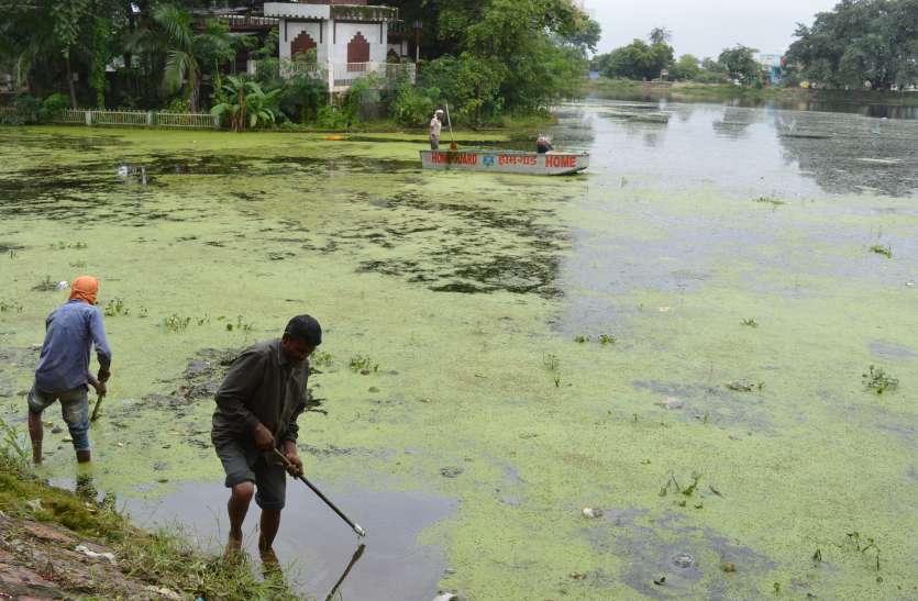 फिर होने लगी तालाब की सफाई, स्वच्छ होगा जल तो मिलेगा सभी को फायदा