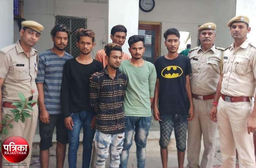 बांसवाड़ा : जन्माष्टमी पर पेट्रोल बम बनाकर युवक पर किया हमला, पुलिस ने आठ जनों को किया गिरफ्तार