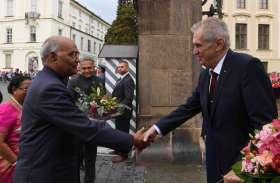 photo gallery: चेक गणराज्य पहुंचे राष्ट्रपति रामनाथ कोविंद, भारतीय समुदाय को किया संबोधित