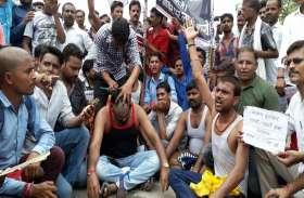भारत बंद: सिर मुंडवाकर दर्ज करवाया विरोध, देखें वीडियो