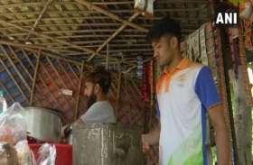एशियाई खेलों में पदक जीत वापस चाय बेचने के काम पर लगा ये एथलीट, तस्वीरें हुई वायरल