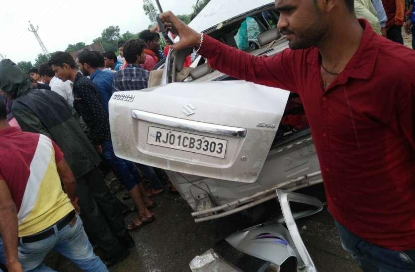 राजस्थान में यहां दो वाहनों की भिड़ंत ने छीनी 4 जिंंदगियां, हादसा इतना भयानक था कि उड़ गए कारों के परखच्चे..
