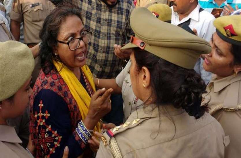 नोएडा पहुंचे दिल्ली के सीएम अरविंद केजरीवाल की रैली में महिला का हंगामा, लगाए गंभीर आरोप