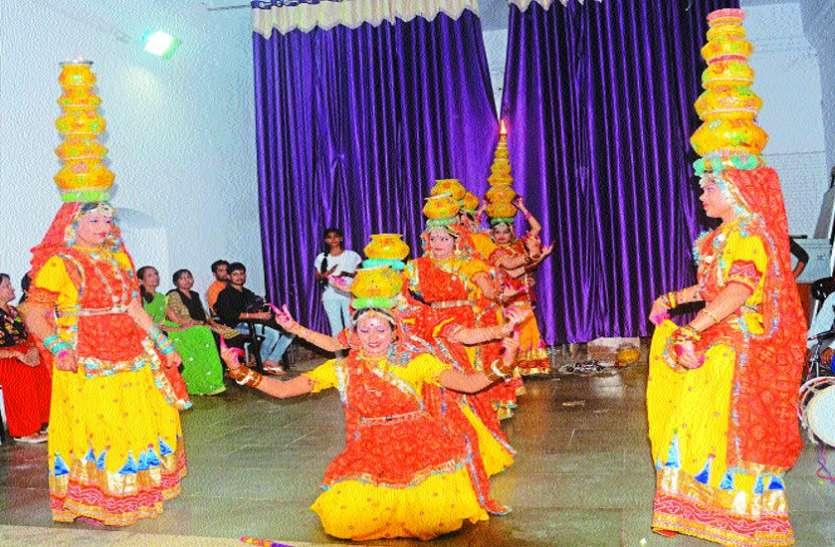 लोक नृत्य नौरता, बधाई ने बांधा समां, बरेदी रहा अव्वल