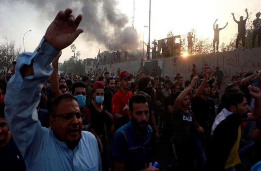 इराक: हिंसा में तब्दील हुआ प्रदर्शन, रॉकेट हमले के बाद मरने वालों की संख्या 12 पहुंची
