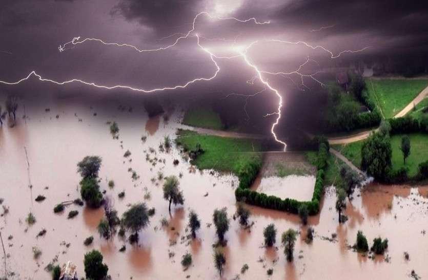 राजस्थान में बारिश का कहर! बारां में बाढ़ के हालात, यहां गिरा मकान, कई गांव बने टापू, नदियां उफान पर