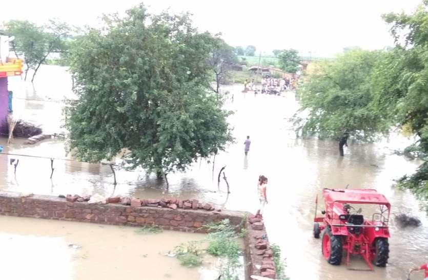 मानसून :झालावाड़ जिले बारिश  का कहर , नदी नालों में उफान, किसी वक्त खुल सकते भीमसागर बांध के गेट
