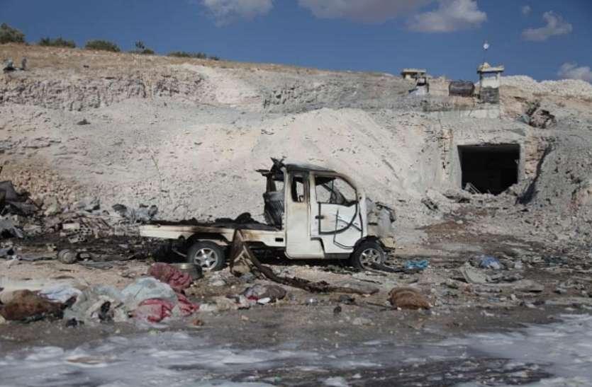 रूस ने सीरियाई विद्रोहियों के गढ़ पर बोला हमला, लड़ाकू विमानों ने गिराए बम