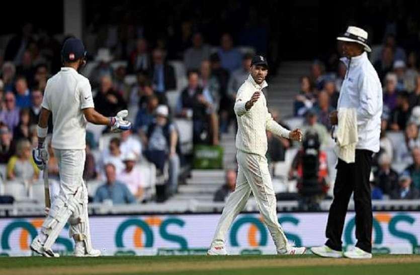 Eng vs Ind: जेम्स एंडसरन को विराट कोहली से भिड़ना पड़ा भारी, ICC ने लगाया जुर्माना