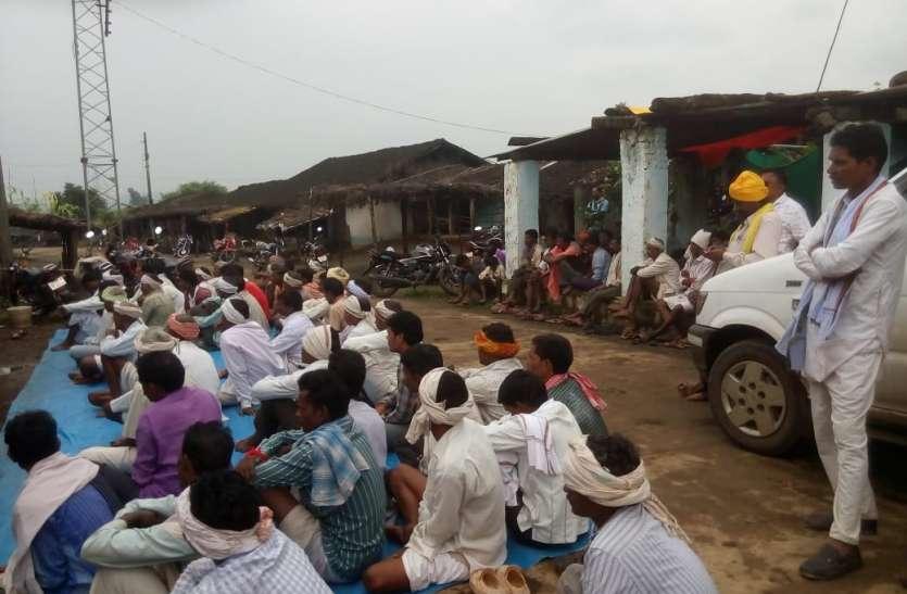 तापी पंचायत में किसानों ने मेगा रिचार्ज परियोजना का किया विरोध