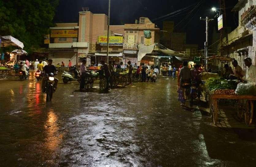नागौर में  बारिश को लेकर कहीं खुशी कहीं गम