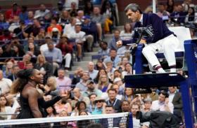 US Open : ग्रैंडस्लैम हारने के बाद अंपायर से भिड़ी सेरेना, कहा झूठा और चोर