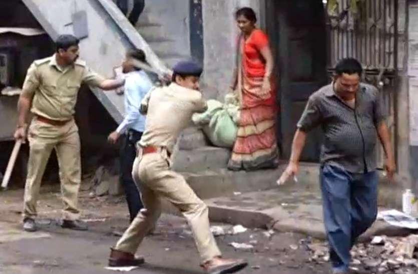 पुलिस ने श्रमिकों को दौड़ा-दौड़ा कर पीटा, यह थी उनकी मांग