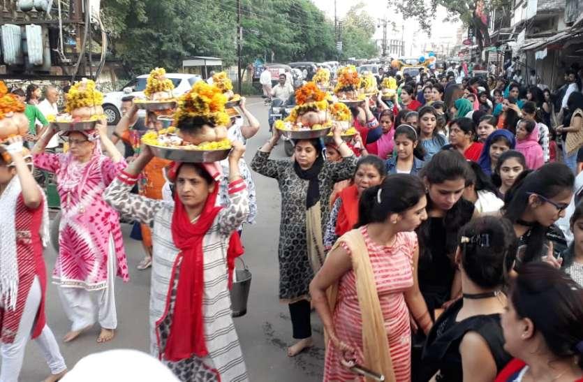 बहराणा साहिब सिर पर लेकर निकाली शोभायात्रा