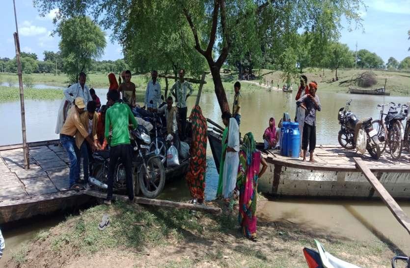 यमुना नदी का जलस्तर बढ़ा,ग्रामीण इलाकों का मुख्य मार्गों से सम्पर्क कटा