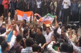भारत बंद को लेकर जबरन बंद कराई गई दुकानें,पटरी पर भी उतरे प्रदर्शनकारी