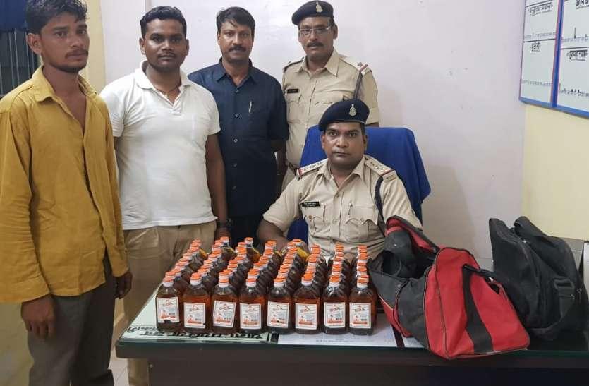 पुलिस की लगातार कार्रवाई से अवैध शराब बेचने वालों में मची खलबली