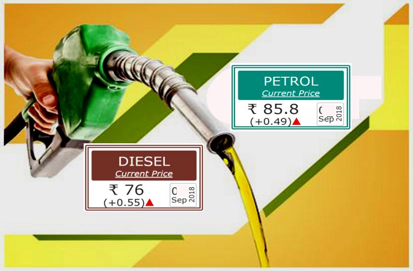 3 महीने में 18 बार बढ़े पेट्रोल के दाम, कालिख पोतकर किया प्रदर्शन..