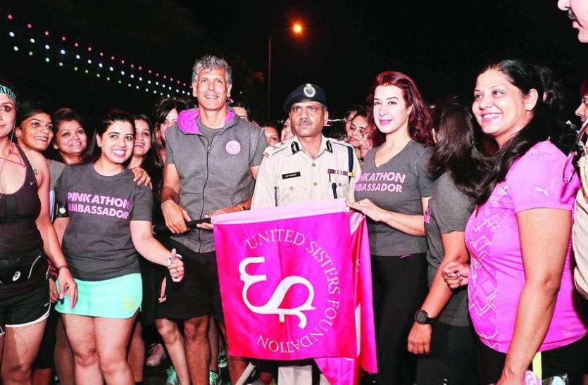 दिल्ली : कनॉट प्लेस में बिना डर के आधी रात को निकली महिलाएं,  लिया फीयरलेस रन में भाग