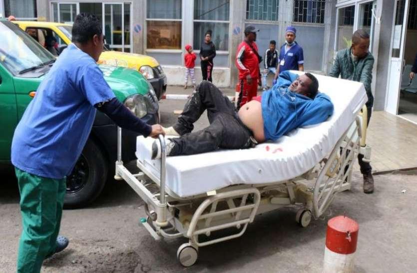 फुटबॉल मैच के दौरान मची भगदड़, 1 की मौत लगभग 40 लोग घायल