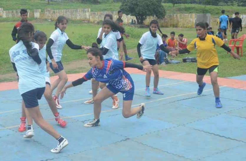 मुख्यमंत्री कप खेल प्रतियोगिता,  स्पर्धा में बच्चों ने जमकर बहाया पसीना