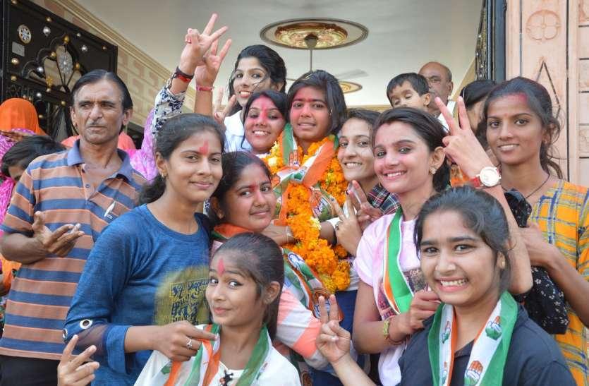 छात्रसंघ चुनाव 2018: कन्या महाविद्यालय में पहली बार एनएसयूआई ने पहराया जीत का परचम