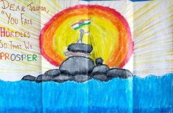 सर्जिकल स्ट्राइक की दूसरी वर्षगांठ: बच्चों ने लिखा जवानों के नाम खत