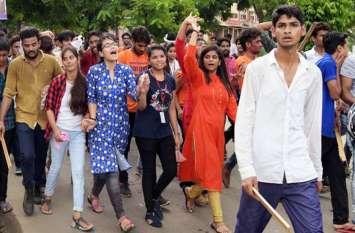 जयपुर में कदम रखते ही अमित शाह को झटका, प्रदेश में यहां एनएसयूआई का लहराया परचम