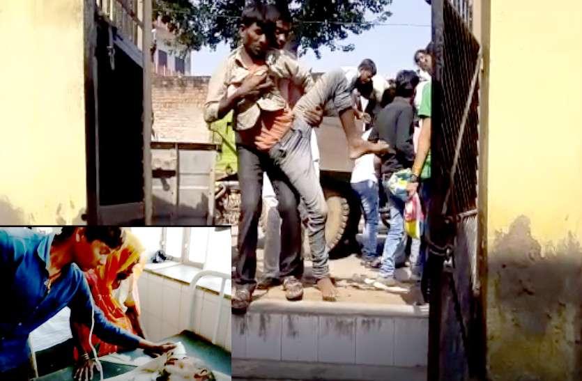 धौलपुर: अनियंत्रित होकर पिकअप गहरी खाई में गिरी, कई गंभीर घायल