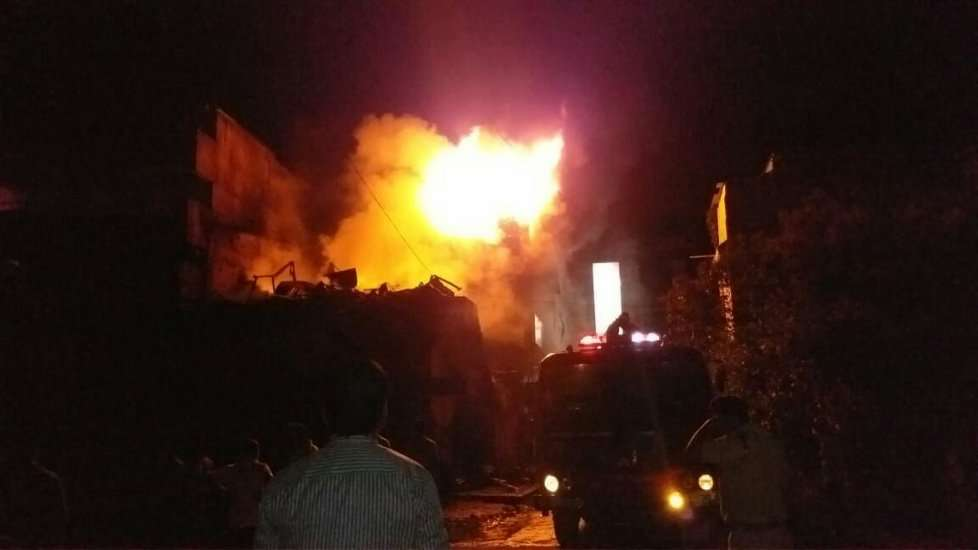footwear warehouse fire in betul madhya pradesh