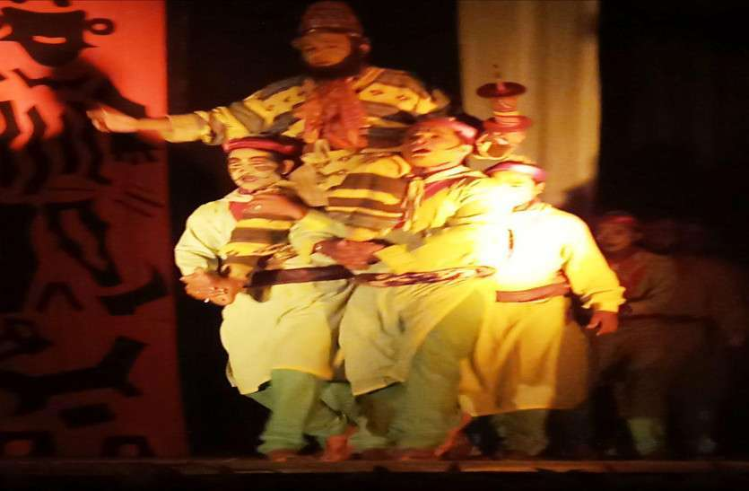 Beautiful scene of Tukka Pe Puka Drama staged in jodhpur