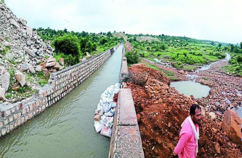 पानी पर तनाव : बरई में किसानों ने तोड़ी नहर,विधायक फिर पानी ले गए हिम्मतगढ़