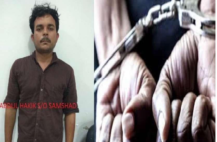 यूपी एसटीएफ ने पचास हजार के इनामी बदमाश हक़ीक को किया गिरफ्तार