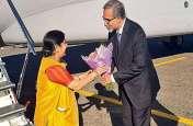 रूस पहुंची विदेश मंत्री सुषमा स्वराज, भारत-रूस अंतर-सरकारी आयोग की बैठक में लेंगी हिस्सा