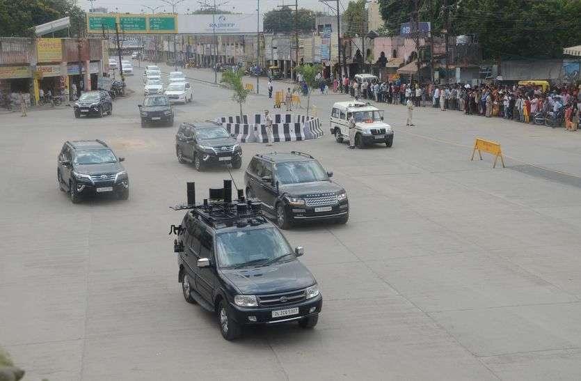 प्रधानमंत्री आज आ रहेे है, वीआईपी रोड पर जाने से बचे वाहन चालक