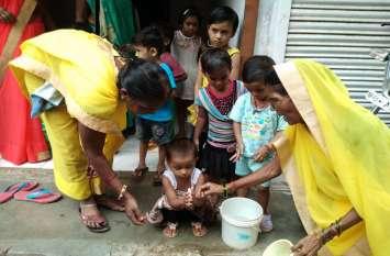 राष्ट्रीय पोषण माह में किया जागरूक, बताया- कब और कैसे धोएं हाथ