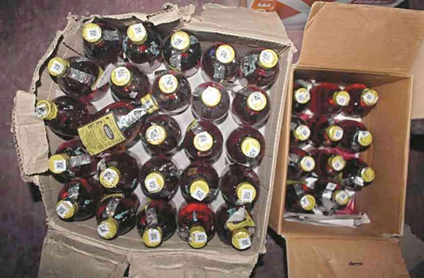 भारी मात्रा में अवैध अंग्रेजी शराब की चल रही थी बिक्री, पुलिस ने दी दबिश तो उस गए होश....