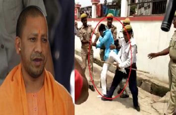 सीएम योगी आदित्यनाथ के काफिले को काला झंडा दिखाने पर सपा नेता को बुरी तरह पीटा
