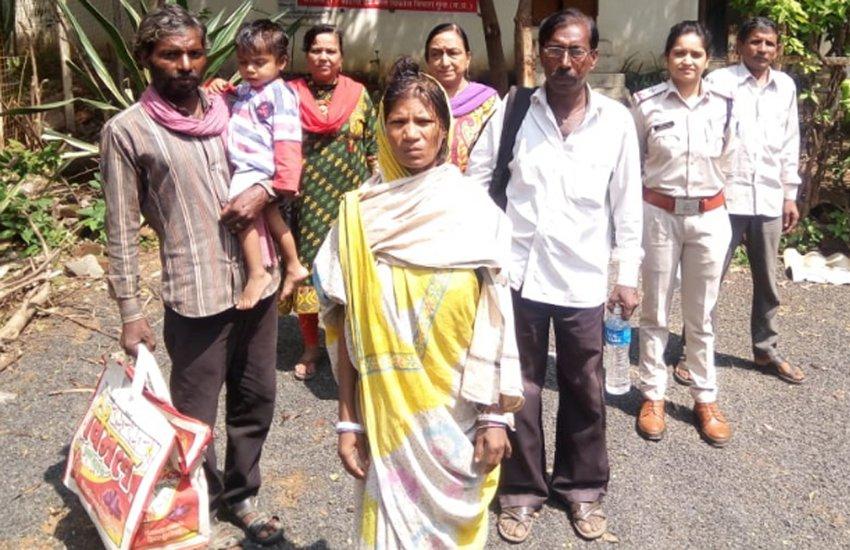 गुमशुदा महिला को चार महीने बाद मिला परिवार