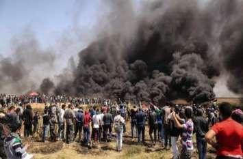 इजरायल-फिलिस्तीन सीमा पर भड़का संघर्ष, 3 मरे, 250 से अधिक घायल