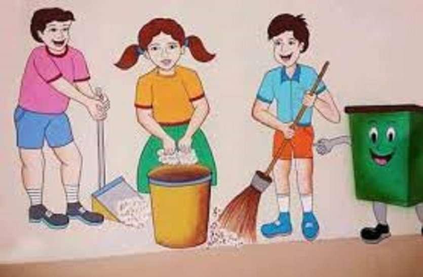 चिकित्सालय कर्मचारी व मरीजों को दिलाई स्वच्छता की शपथ