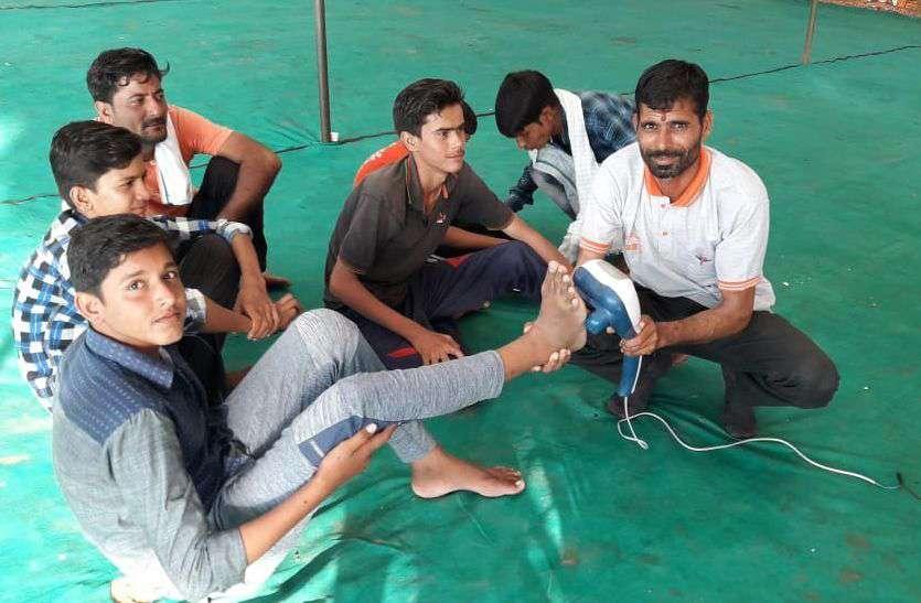 11 बरस से हो रहा है पदयात्रियों की मुस्कान बढ़ाने का काम