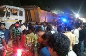 इस घटना के बाद रात में ही आक्रोशित लोगों की भीड़ ने कचहरी चौक के पास किया चक्काजाम