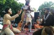 गणपति बप्पा मोरिया- के जयघोष के संग निकली अलीगंज के राजा की विसर्जन शोभा यात्रा